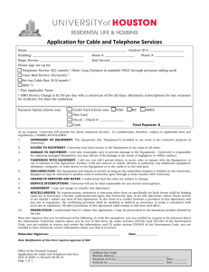 Application for Cable and Telephone Services