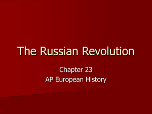 The Russian Revolution Chapter 23 AP European History