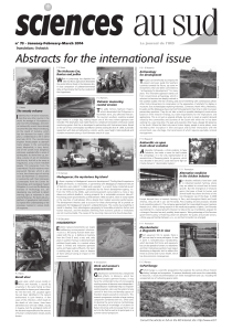 Abstracts for the international issue W Le journal de l'IRD