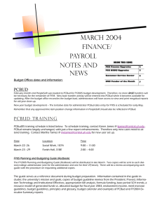 March 2004 Finance/ Payroll Notes and