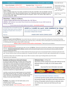 Vanier  Weekly Oct, 19, 2015    issue #6