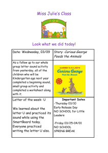 Miss Julie's Class  Look what we did today! Curious George