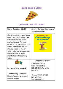 Miss Julie's Class  Look what we did today! Curious George and