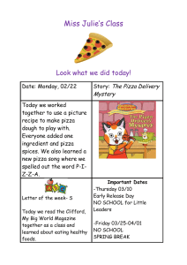 Miss Julie's Class  Look what we did today! The Pizza Delivery