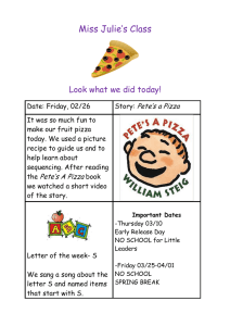 Miss Julie's Class  Look what we did today! Pete's a Pizza