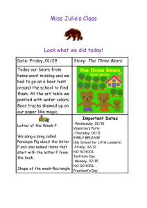 Miss Julie's Class  Look what we did today! The Three Bears