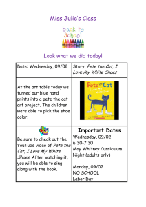 Miss Julie's Class  Look what we did today! Pete the Cat, I