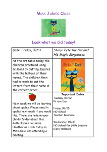 Miss Julie's Class  Look what we did today! Pete the Cat and