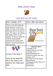 Miss Julie's Class  Look what we did today! Bear See Colors