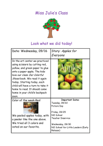 Miss Julie's Class  Look what we did today! Apples for