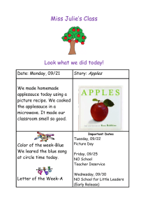 Miss Julie's Class  Look what we did today! Apples