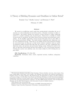 A Theory of Bidding Dynamics and Deadlines in Online Retail ∗
