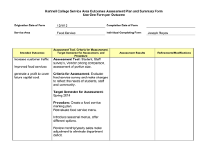 Hartnell College Service Area Outcomes Assessment Plan and Summary Form  12/4/12