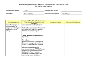 Hartnell College Service Area Outcomes Assessment Plan and Summary Form  12/4/13