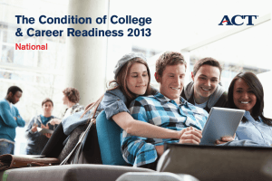 The Condition of College & Career Readiness 2013 National
