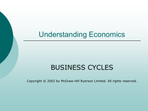 Understanding Economics BUSINESS CYCLES