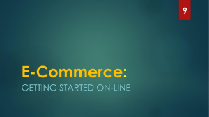 E-Commerce : GETTING STARTED ON-LINE 9