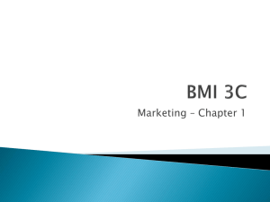 Marketing – Chapter 1