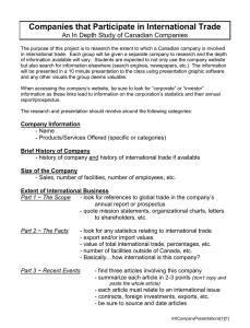 Companies that Participate in International Trade