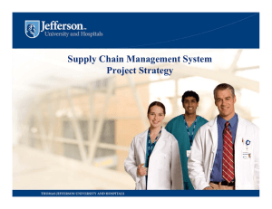 Supply Chain Management System Project Strategy