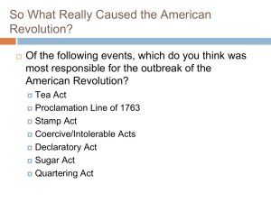 So What Really Caused the American Revolution?