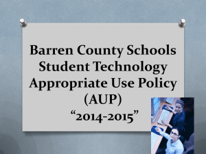 Barren County Schools Student Technology Appropriate Use Policy (AUP)