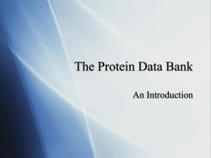 The Protein Data Bank An Introduction