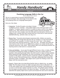 Handy Handouts Practicing Language Skills in the Car