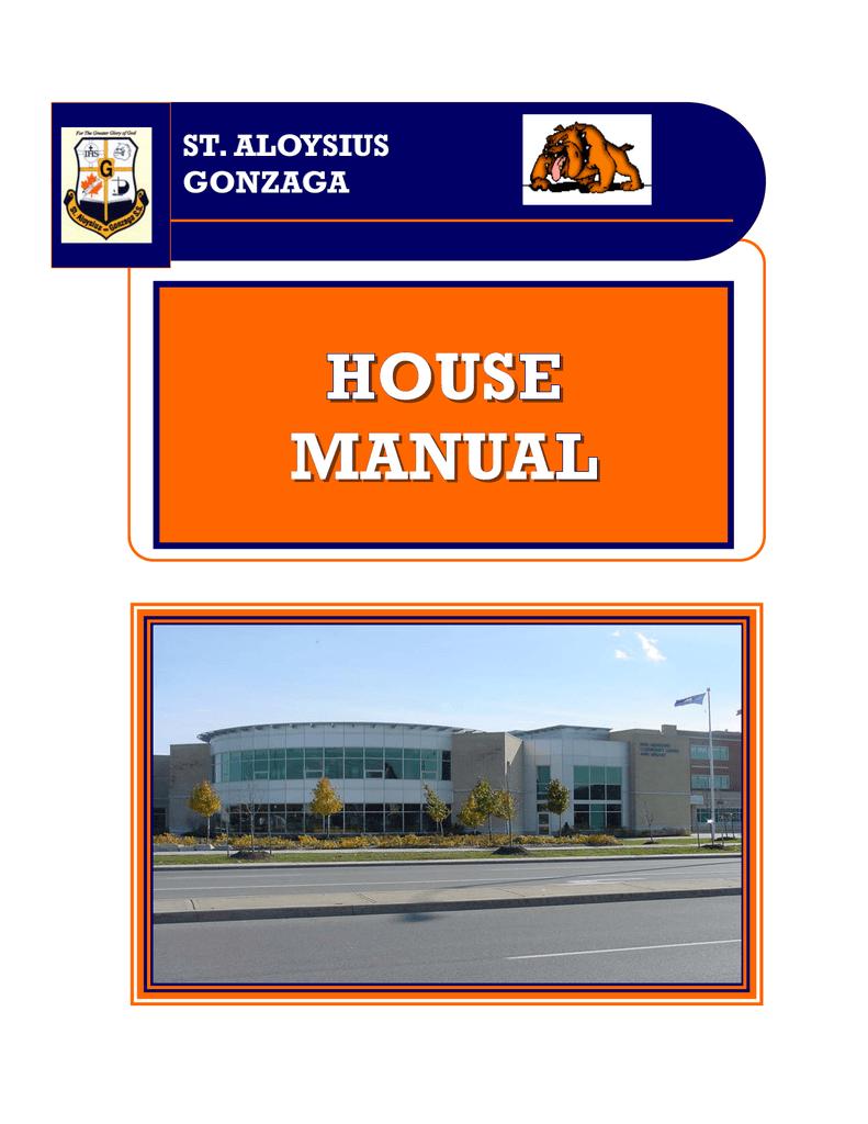 House Manual St Aloysius Gonzaga