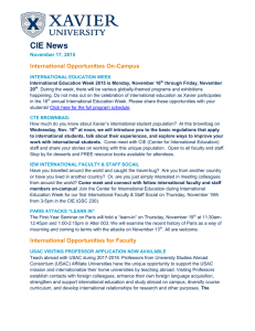 CIE News  International Opportunities On-Campus November 17, 2015