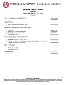 HARTNELL COMMUNITY COLLEGE DISTRICT  Student Affairs Council Agenda