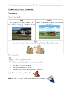 Study Guide for Social Studies Unit 1 Vocabulary