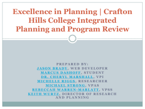 Excellence in Planning | Crafton Hills College Integrated Planning and Program Review