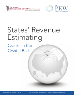 States' Revenue Estimating Cracks in the Crystal Ball