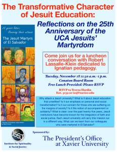 The Transformative Character of Jesuit Education: Reflections on the 25th Anniversary of the