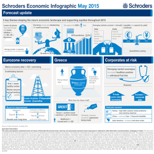 Schroders Economic Infographic May 2015 Forecast update