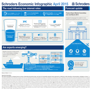 Schroders Economic Infographic April 2015 The road following low interest rates Forecast update