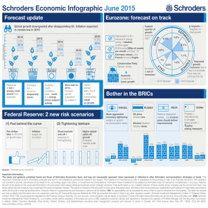 Schroders Economic Infographic June 2015 Forecast update Eurozone: forecast on track
