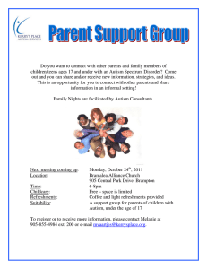 Do you want to connect with other parents and family... children/teens ages 17 and under with an Autism Spectrum Disorder? ...