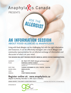 ALLERGIST AN INFORMATION SESSION ASK THE