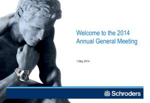 Welcome to the 2014 Annual General Meeting 1 May 2014