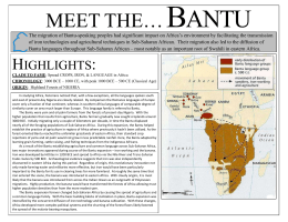B  ANTU MEET THE…