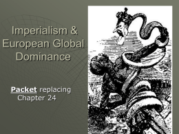 Imperialism & European Global Dominance Packet