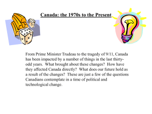 Canada: the 1970s to the Present