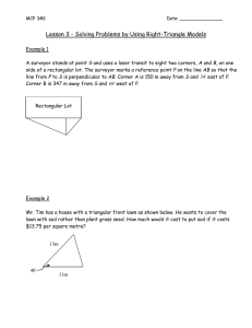 Lesson 3 - Solving Problems by Using Right-Triangle Models