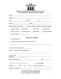 Please fill out and send to the address below in... ____________________________________________________________ The Foundation for Mott Community College