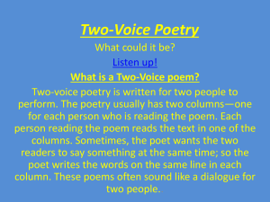 Two-Voice Poetry
