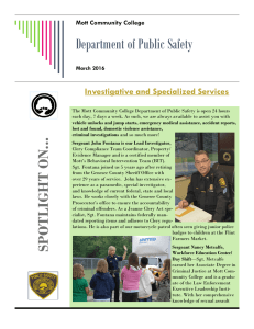 Department of Public Safety Investigative and Specialized Services Mott Community College March 2016