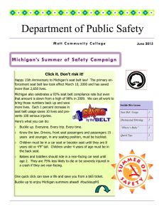 Department of Public Safety Michigan's Summer of  Safety Campaign