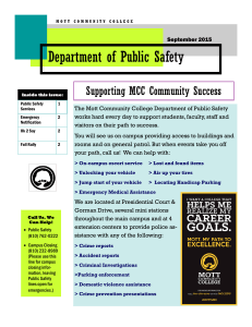 Department of Public Safety Supporting MCC Community Success